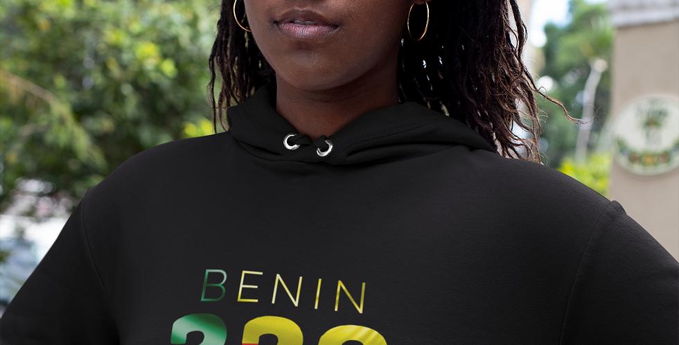 Benin Womens Black Hoodie