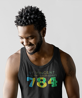 St Vincent and the Grenadines 784 Mens Tank Top