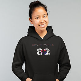 South Korea 82 Womens Pullover Hoodie