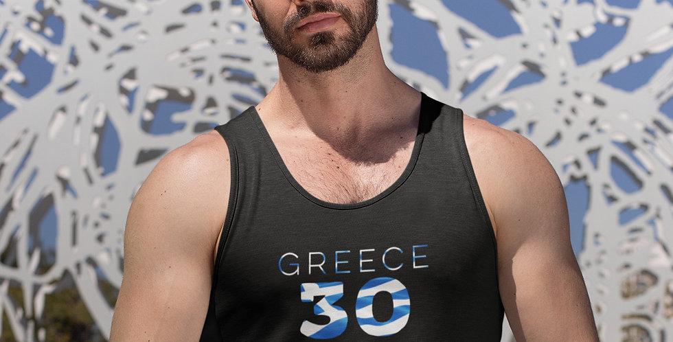 Greece Mens Black Tank Top Vest