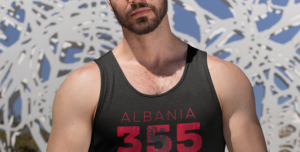 Albania Mens Black Tank Top Vest