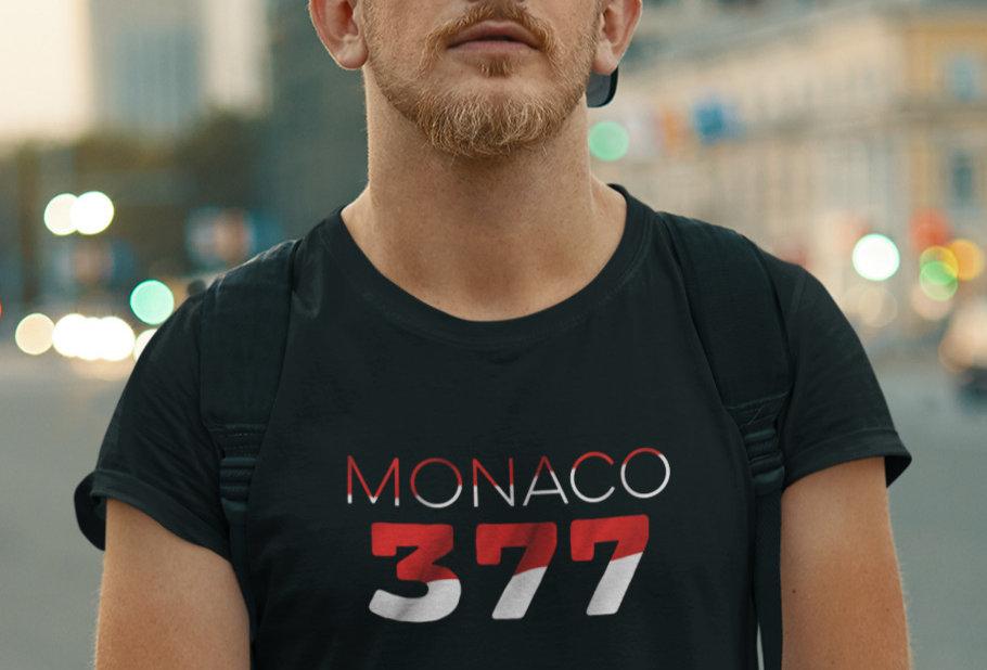 Monaco Mens Black T-Shirt