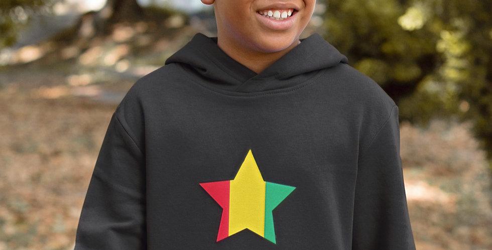 Guinea Childrens Black Hoodie