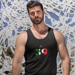 Italy 39 Mens Tank Top