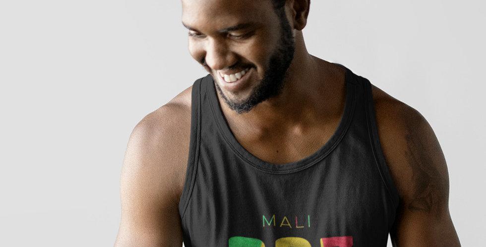 Mali Mens Black Tank Top Vest