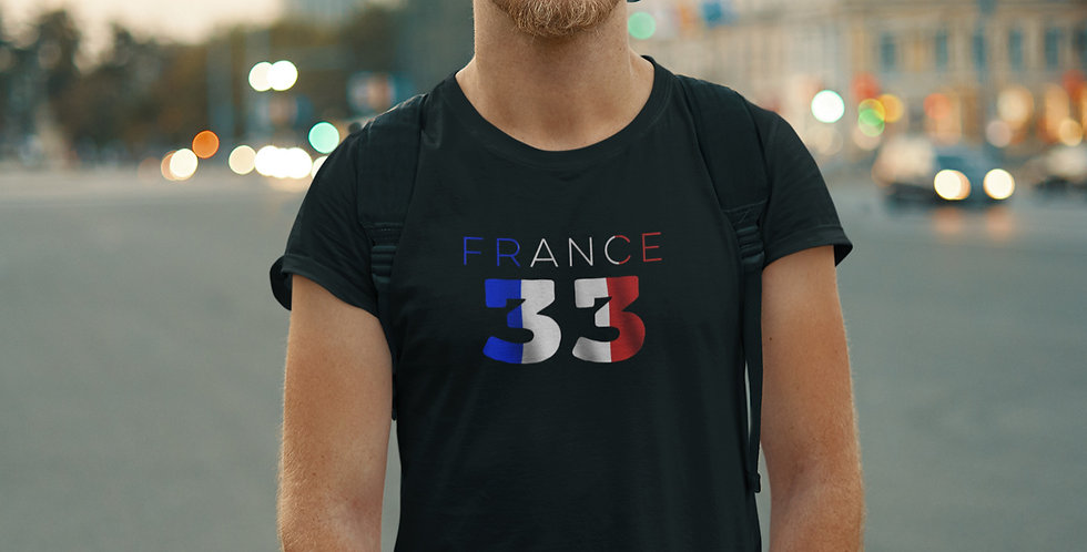 France Mens Black T-Shirt