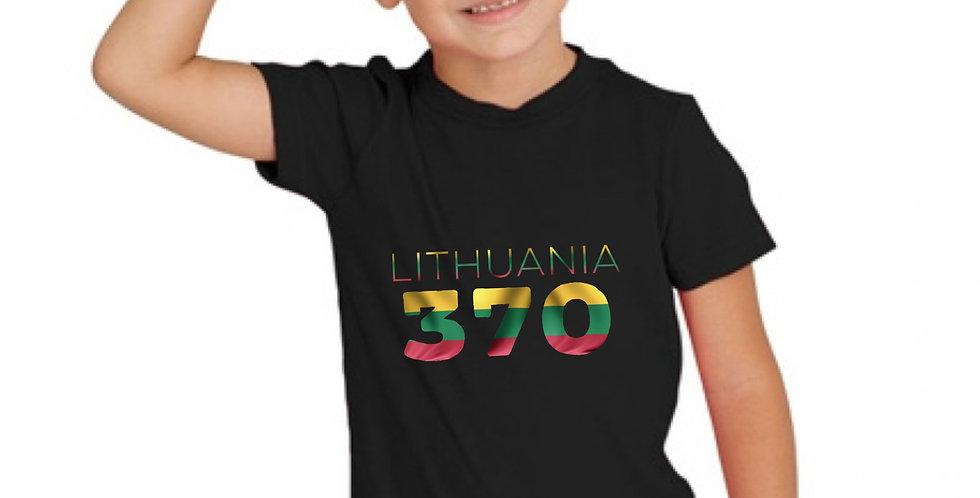 Childrens Lithuania Black T-Shirt