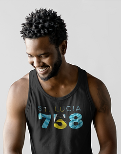 St Lucia 758 Mens Tank Top