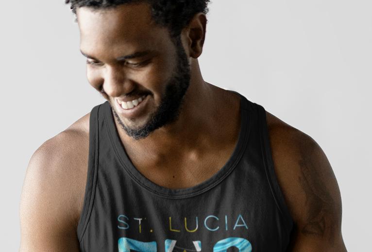 St Lucia Mens Tank Top Vest