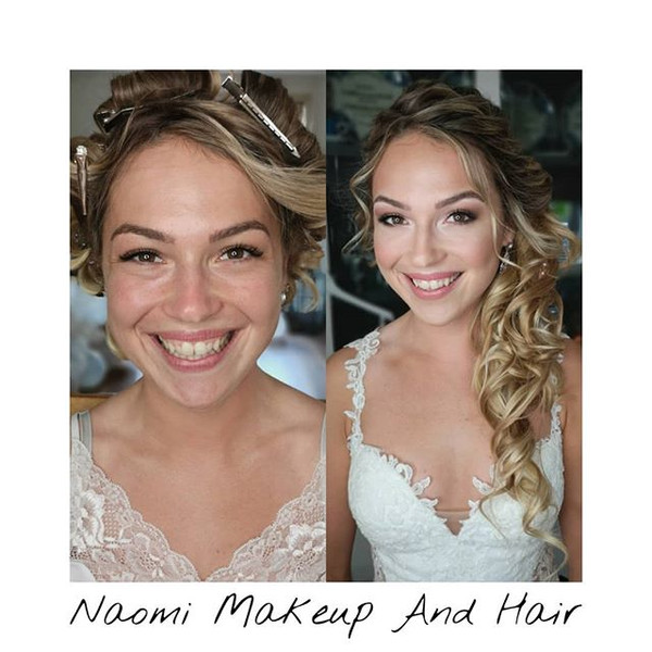 So beautiful before and a stunning bride