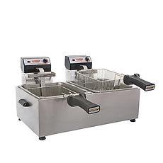 Fritadeira dupla, FRitadeira dupla 5 litros, Cotherm, fritadeira semiprofissional