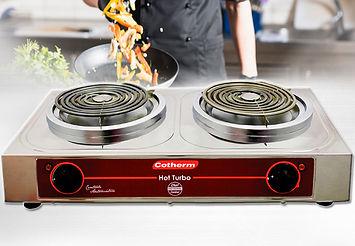 Fogão Elétrico, Fogão 2 bocas, Cotherm, Hot Turbo, Fogão 1 boca, Chef Cooker