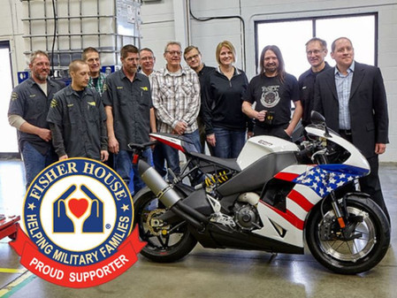 EBR Motorcycles Auction of VIN #1 benefits Military Charity, Fisher House Foundation