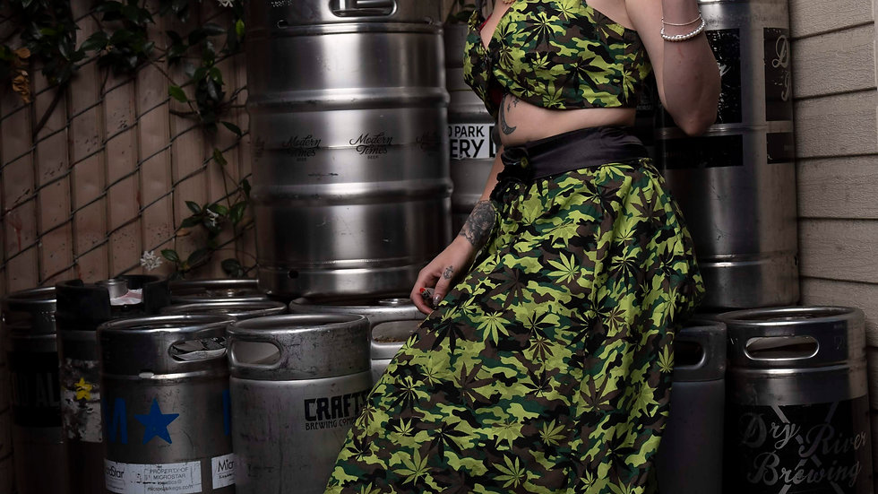 Camouflage Weed Dress