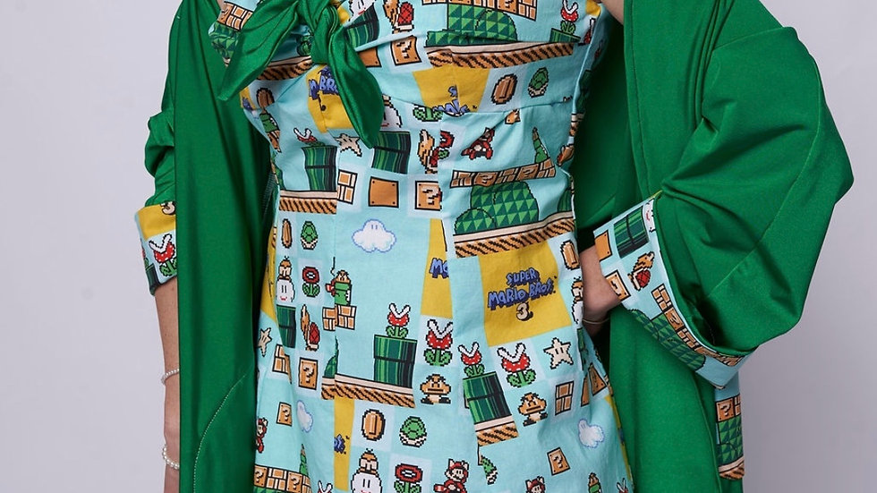 Mario Kart Bathing Suit Dress and Cover Up Jacket