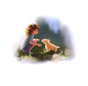 Gatuhund Lilo - book illustration