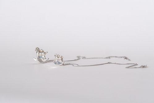 Horseland silver pendant (small)