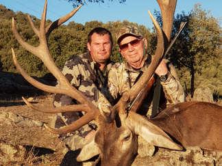 Iberian Red Deer hunting