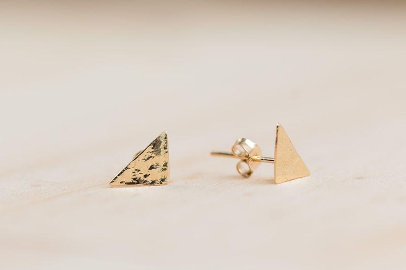 Arte-Sincero boucles triangles or jaune