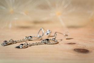 Boucles d'oreilles argent 925 et  grenat