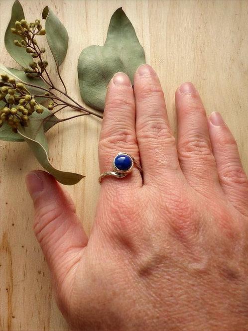 Bague en argent 925 et lapis-lazuli