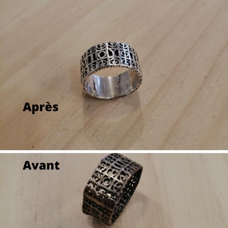 Bague en argent 925 réparation de bijoux