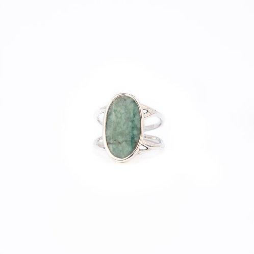Bague en argent 925 et jade