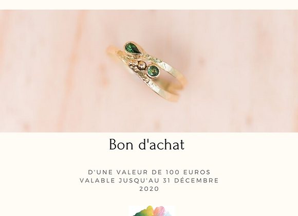 Bon d'achat de 100 euros