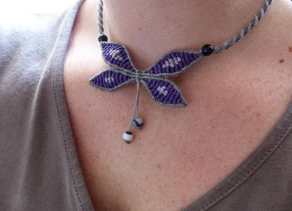 Réalisable sur commande :collier papillon et onix