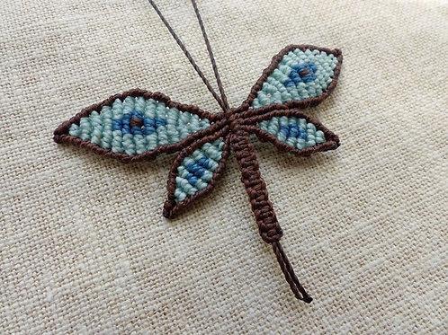 Réalisable sur commande : libellule bleue