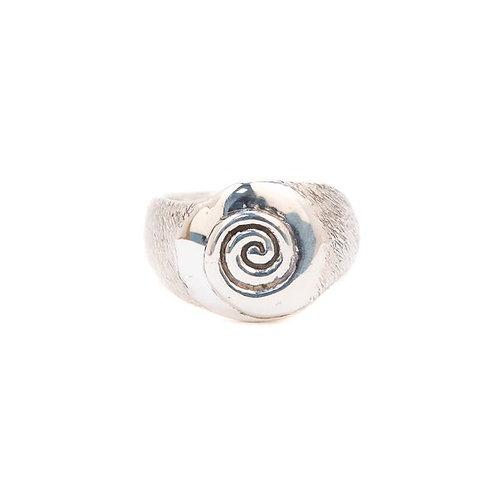 Bague spirale en argent 925