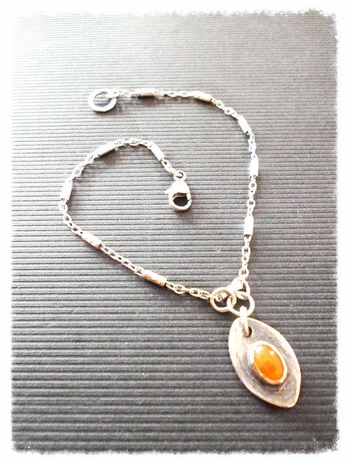 Bracelet en argent 925 et cornaline