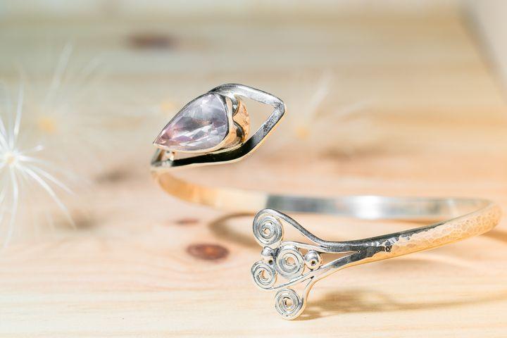 Bracelet argent quartz roseArte_Sincero_