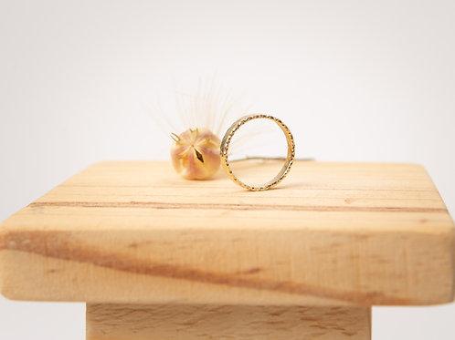 Bague anneau en or jaune 750/00