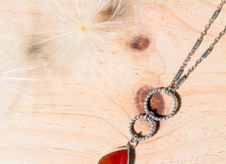 Collier en argent 925 et cornaline