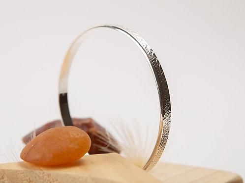 Bracelet jonc en argent texturé