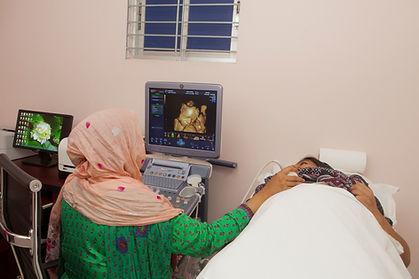 Ultrasonography at BACC Women's & Children Hospital, Dhaka