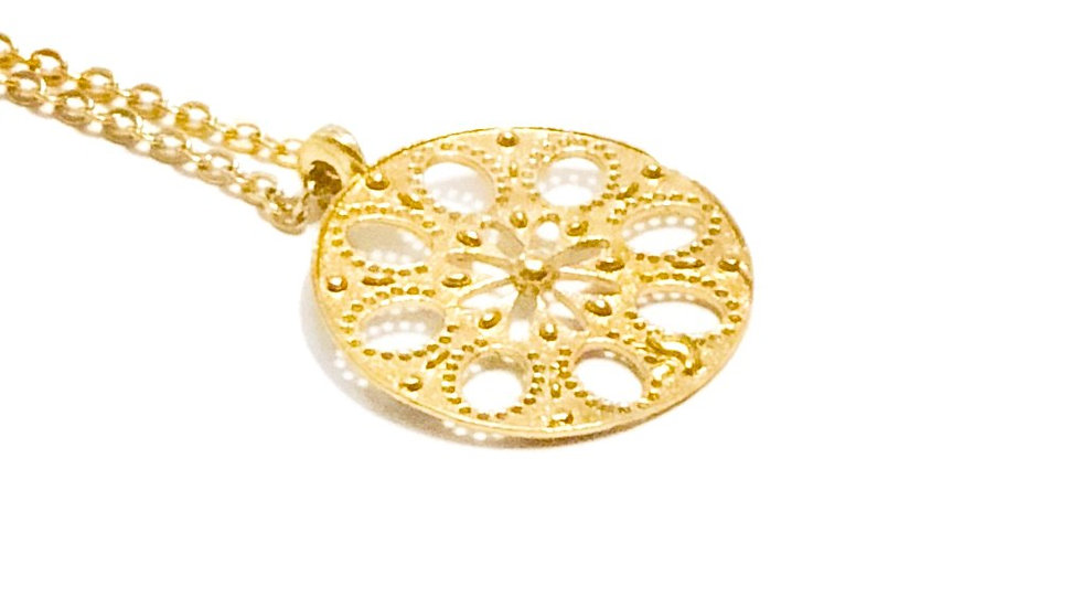 The Lotus Gold Necklace