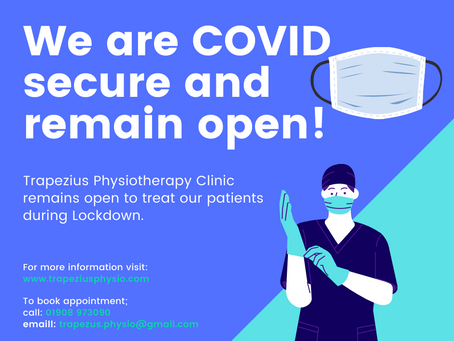 We are COVID secure and remain open!
