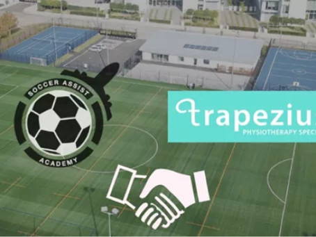 Trapezius Signs Partnership with Soccer Assist Academy