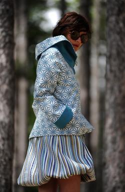 Veste turquoise étoilée