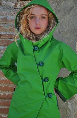 Imperméable Coton enduit vert