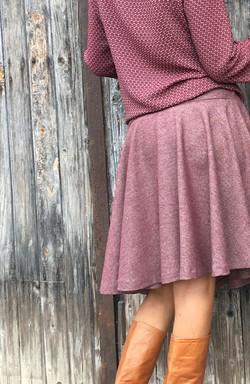 Jupes à godet laine tweed fine-2