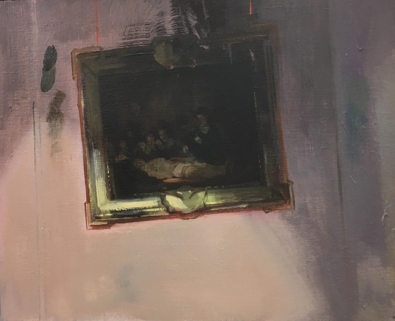 Lesson Room, 2019 Huile sur toile, 38x46 cm