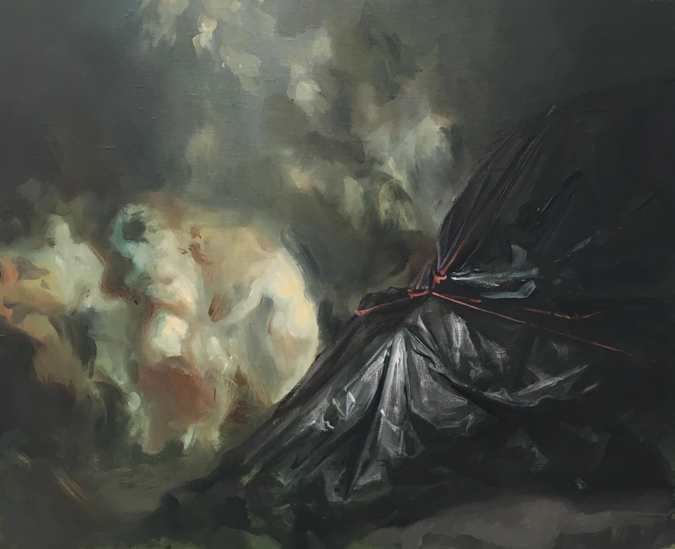 Sabbath, 2019 Huile sur toile, 51x60 cm