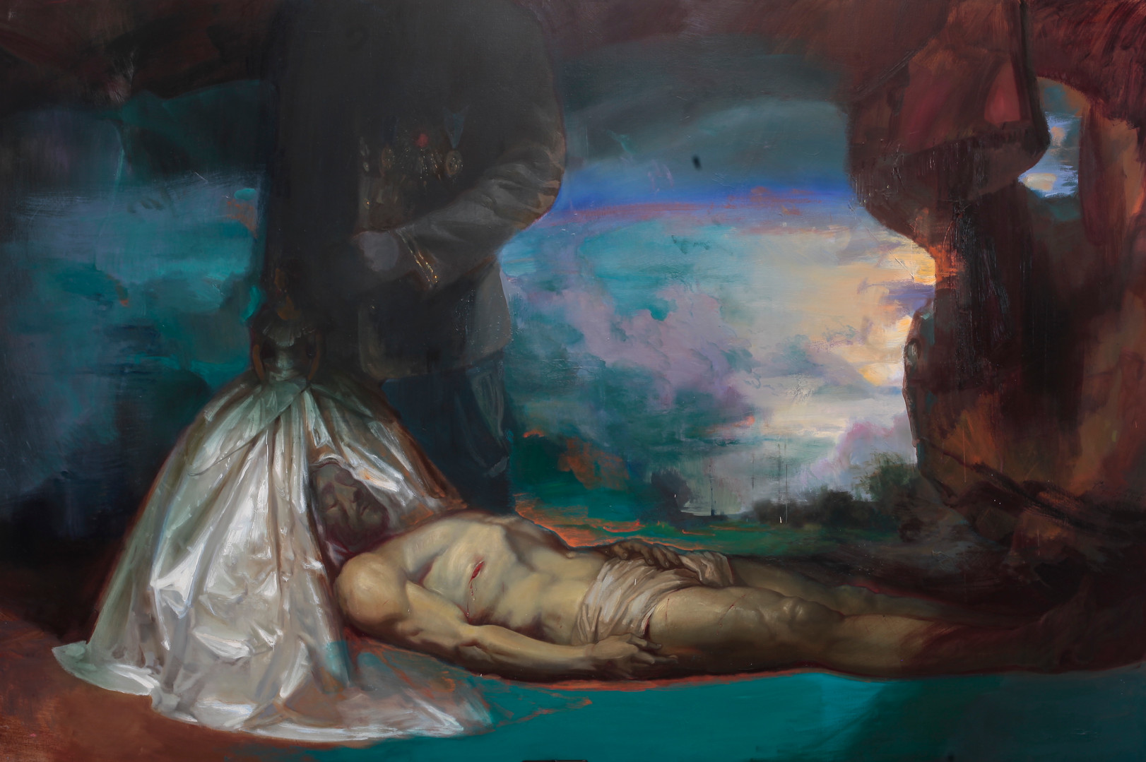 I want to heal, 2020 Huile sur toile, 200x300 cm