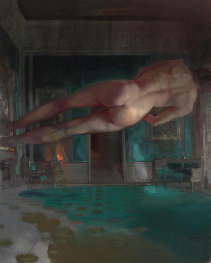 Exit Nude, 2020 Huile sur toile, 160x130 cm.