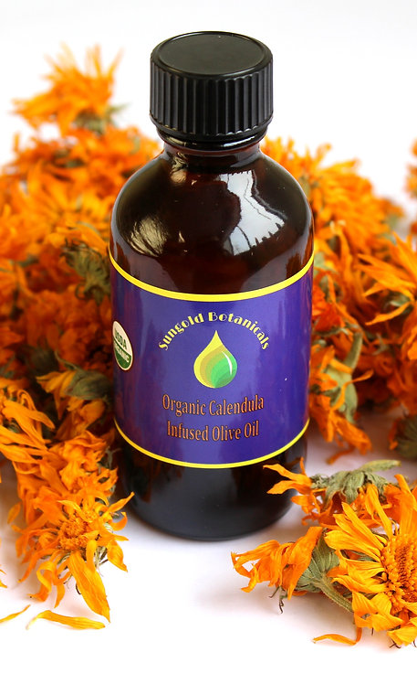 Organic Calendula Infused Olive Oil