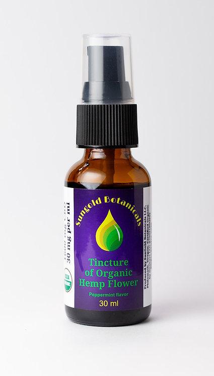 Hemp Tincture - 900mg - Peppermint Flavor