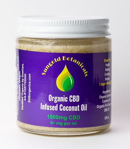 Organic CBD Infused Coconut Oil
